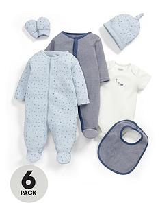 mamas-papas-6pce-blue-gift-set