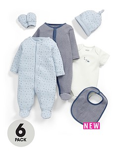 mamas-papas-6pce-blue-gift-set