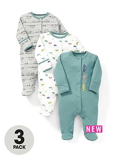 mamas-papas-3pk-cars-sleepsuits