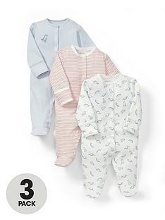 mamas-papas-baby-boys-dino-sleepsuitsnbsp3-pack