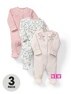 mamas-papas-baby-girls-floral-sleepsuitsnbsp3-pack