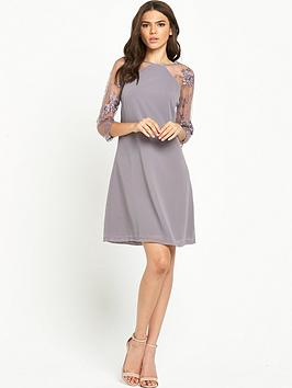 little-mistress-lace-sleeve-shift-dress-mink