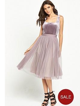 little-mistress-2-in-1-velvet-mesh-midi-dress-mink
