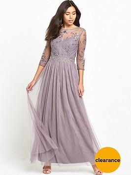 little-mistress-three-quarter-sleeve-lace-maxi-dress-mink