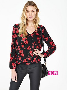 v-by-very-floral-wrap-blouse
