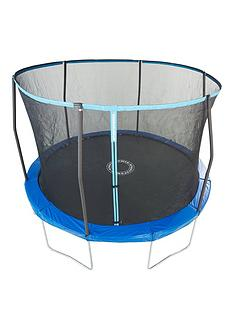 sportspower-easi-store-12ft-trampoline-with-enclosure-amp-blluegreen-flip-pad-frame