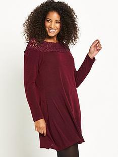 ax-paris-curve-crochet-neck-knit-tunic-wine
