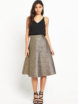 ax-paris-2-in-1-midi-metallic-skirt-dress-blackgold