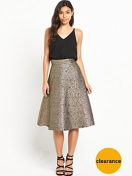 ax-paris-2-in-1-midi-metallic-skirt-dress-blackgold