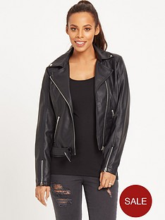 rochelle-humes-pu-belted-biker-jacket-black