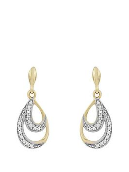love-gold-9ct-gold-diamond-set-teardrop-earrings