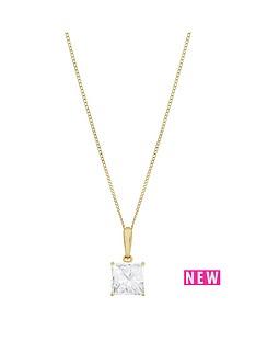 love-gold-9ct-gold-1-carat-diamond-look-princess-cut-pendant