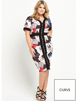 lovedrobe-zip-front-printed-dress