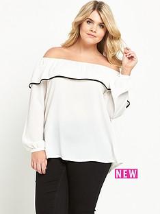 lovedrobe-lovedrobe-bardot-frill-blouse