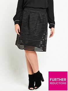 lovedrobe-high-waist-bandage-skirt-black