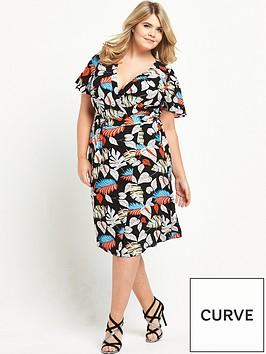 lovedrobe-wrap-front-print-dress