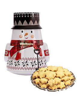 walkers-snowman-tin-with-mini-shortbread-stars-200g