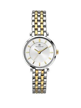 accurist-silver-dial-stainless-steel-two-tone-bracelet-ladies-watch