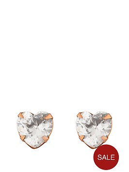 love-gold-9ct-rose-gold-5mm-cubic-zirconia-heart-earrings