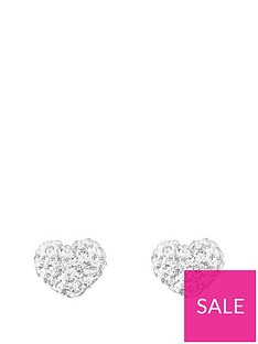 the-love-silver-collection-sterling-silver-crystal-heart-glitter-studs