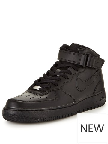 air force 1 black high top