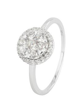 love-gold-sterling-silver-cubic-zirconia-cluster-ring
