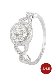 love-silver-sterling-silver-cubic-zirconia-cluster-ornate-ring