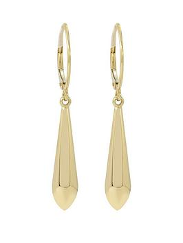 love-gold-9ct-gold-drop-earrings