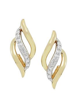love-gold-9ct-gold-cubic-zirconia-lattice-earring