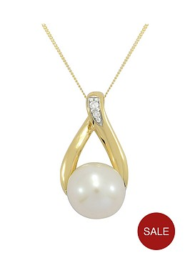 love-gold-9ct-gold-cubic-zirconia-and-freshwater-pearl-pendant
