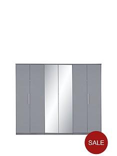 prague-high-gloss-6-door-mirrored-wardrobe