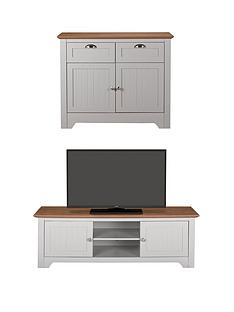 devon-2-piece-package-compact-sideboard-and-tv-unit-greywalnut-buy-and-save