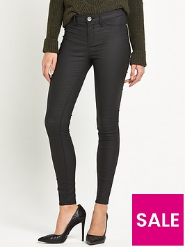 river-island-river-island-molly-short-leg-coated-skinny-jeans