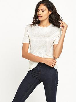 river-island-foil-fitted-tee
