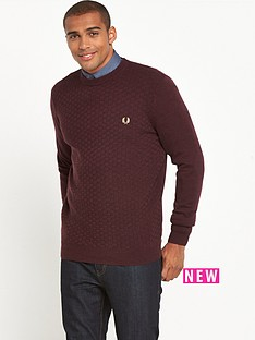 fred-perry-oxford-texture-crew-neck-jumper