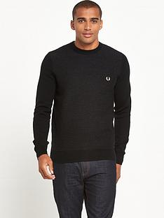 fred-perry-textured-stripe-crew-neck-jumper