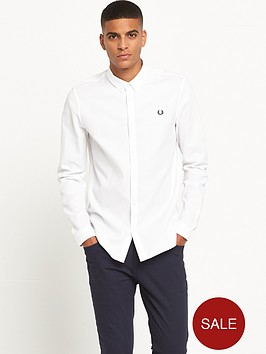 fred-perry-waffle-textured-long-sleeve-shirt