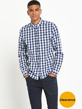 fred-perry-marl-gingham-long-sleeve-shirt