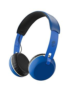skullcandy-grindnbspwirelessnbspbluetooth-on-earnbspheadphonesnbsp--royal-creamblue