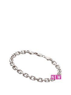 love-silver-sterling-silver-oval-link-bracelet