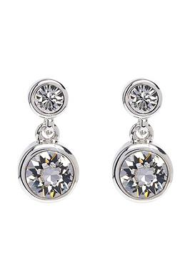 karen-millen-karen-millen-silver-crystal-dot-drop-earring-made-with-swarovski-elements