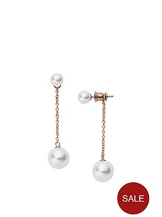skagen-skagen-agnethe-rose-gold-plated-pearl-double-drop-earring