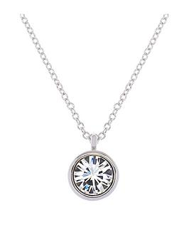 karen-millen-karen-millen-silver-crystal-dot-necklace-made-with-swarovski-elements
