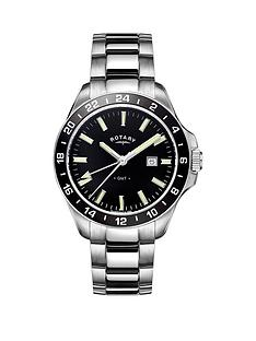rotary-rotary-havana-black-dial-stainless-steel-bracelet-mens-watch