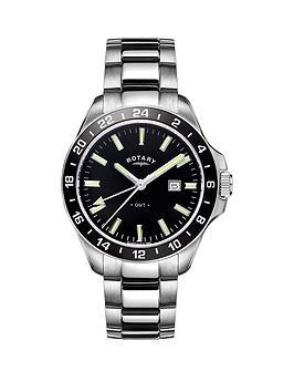 rotary-rotary-havana-black-dial-stainless-steel-bracelet-mens-watch
