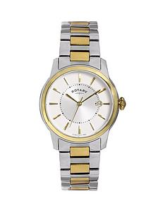designer rotary mens watches gifts jewellery very co uk rotary rotary locarno white dial stainless steel bracelet mens watch