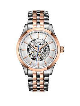 rotary-rotary-mecanique-two-tone-stainless-steel-bracelet-mens-watch