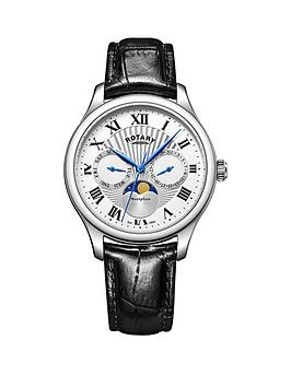 rotary-rotary-moonphase-white-dial-black-leather-strap-mens-watch