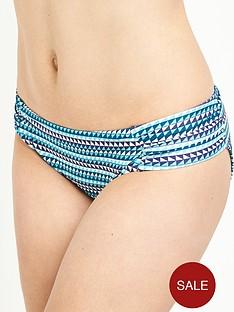 panache-nina-gather-bikini-pant-geo-print