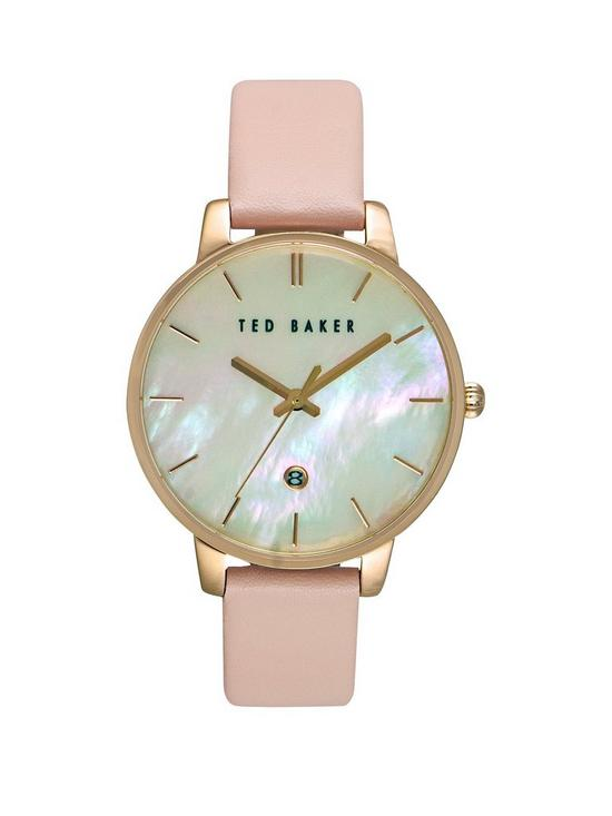 c3ded4398a1 Ted Baker Ted Baker Mother Of Pearl Dial Pink Leather Strap Ladies Watch